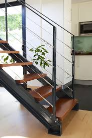 L'escalier mixte en métal et en bois